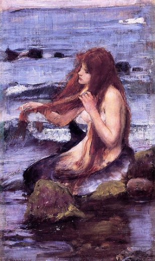 john-william-waterhouse-sketch-for-a-mermaid