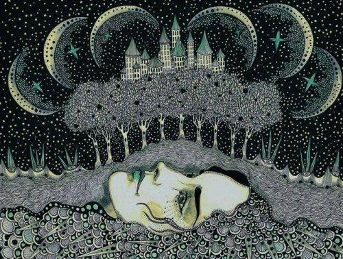 artwork woman in earth